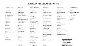 kylätilan lukujärjestys 2011 kevät